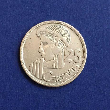 Guatemala - moeda 25 centavos 1956 - prata