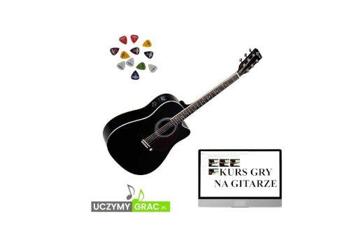 Gitara elektro - akustyczna EVER PLAY AP-400 CEQ BK BLACK Nowa!!!