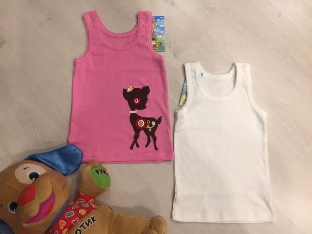 Новая майка (майки, футболка, кофта) на 2-3-4 г. (24 мес.) бирка