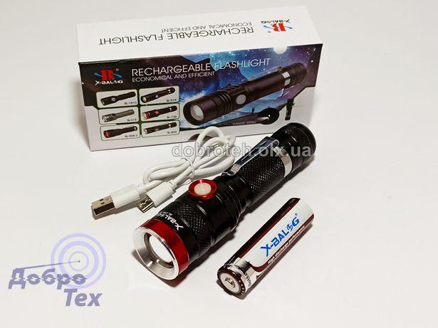 НОВЫЕ! BL-736-T6 Один режим свечения Мощный Фонарь фонарик USB Акк