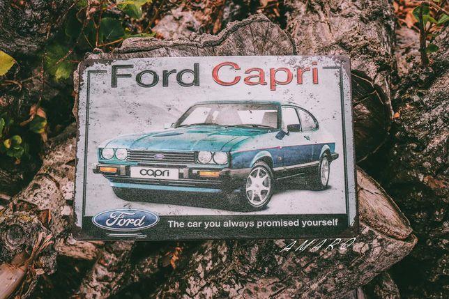 Placa/Chapa de Metal Vintage Retro Ford Capri| NOVA