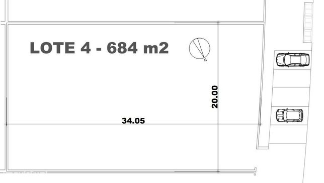 Lote de terreno plano urbano de 684m2
