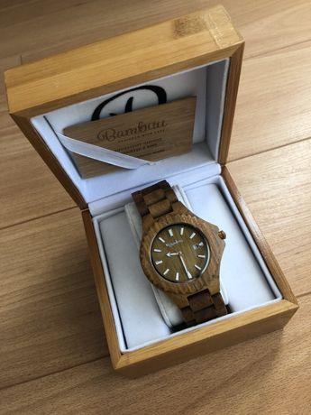 Relógio todo em madeira de BAMBUU unissexo