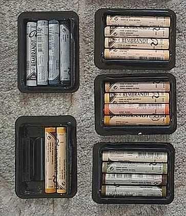 18szt suche miękkie pastele Rembrandt kredki