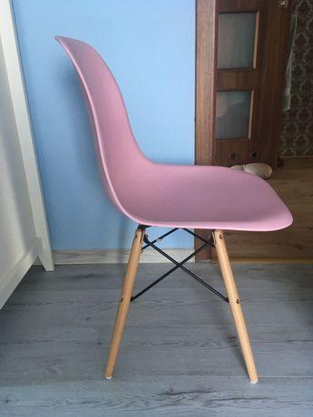 Krzesła różowe dla dziewczynek 2szt