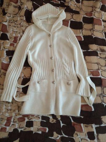 Кофта 44 размер кардиган свитер теплый женская одежда весеняя куртка