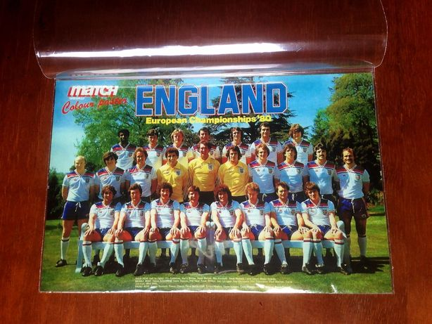 Сборная Англии-1980. Карточка-фото к Чемпионату Европы.