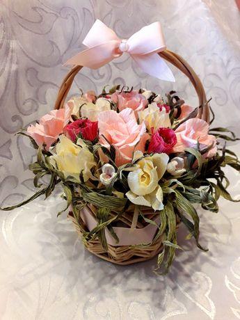 Kosz kwiatów, Dzień Matki urodziny imieniny ślub