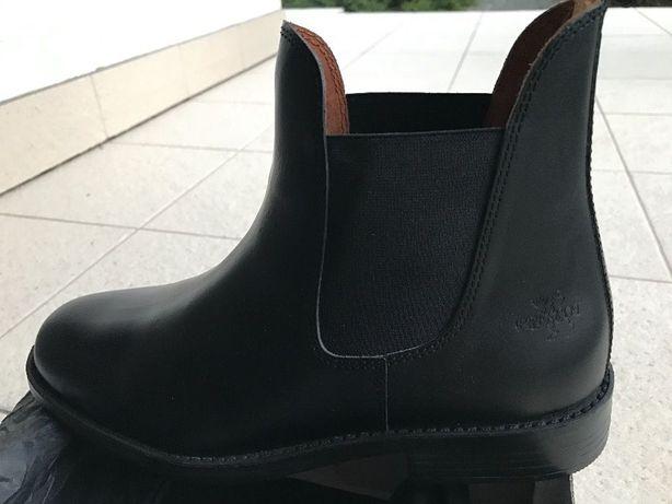 bryczesy, rękawiczki, buty nowe