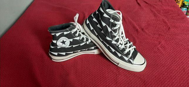 Converse 43.5 czarne w białe wzory