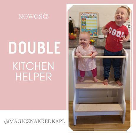 Double kitchen helper, pomocnik kuchenny dla rodzeństwa, bliźniąt