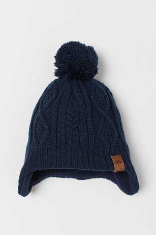 Новая шапочка на флисе фирмы H&M 1-2 года