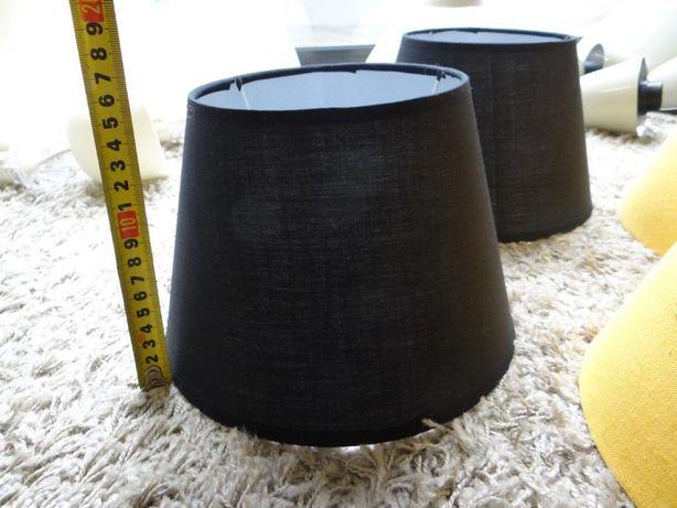 abajur candeeiro de mesa preto - 2 unidades