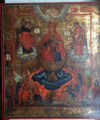Икона Бог-ца Живоносный источник 19 век