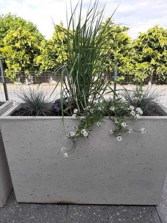 Donica betonowa wysoka