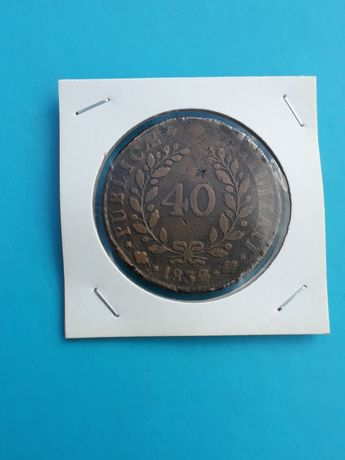 """Moeda 40 Réis D Miguel I 1832 """"MBC"""""""