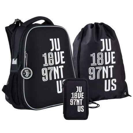 Школьный набор рюкзак + пенал + сумка Kite FC Juventus JV21-531M