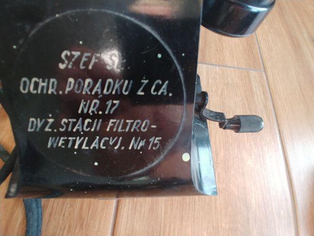 stary orginalny telefon odręczny napis! pamiątka.