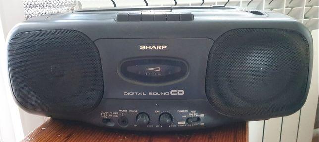 Sharp QT-cd44h магнитола.