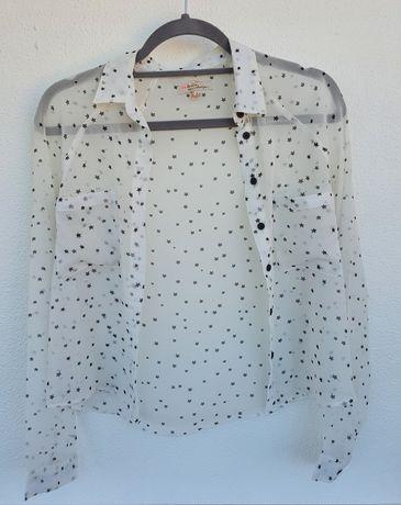 Camisas da Bershka e Zara