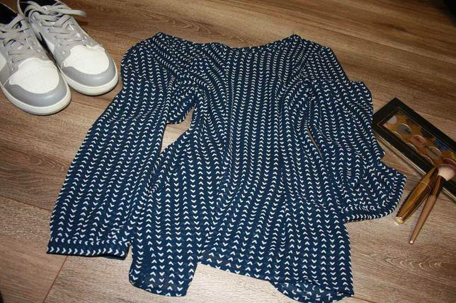 Шифонова блузка напівпрозора