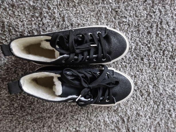 Nowe buty hm trampki botki ocieplane r.34 21.5 cm