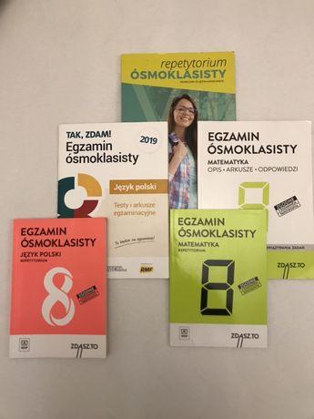Egzamin ósmoklasisty polski, angielski, matematyka.