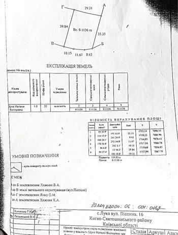 Продам участок под застройку 11,36 соток, от Киева 13км, с. Лука