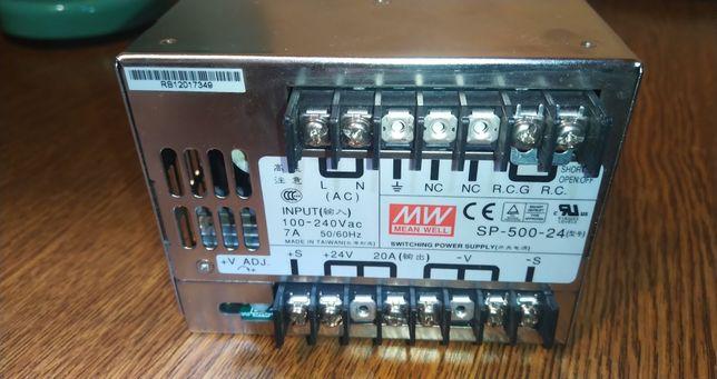 Блок питания Mean Well SP-500-24 480 Вт 24 В 20 А