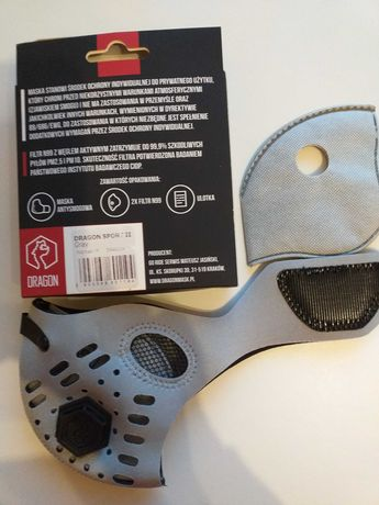 Maska antysmogowa z filtremN99.Gray,Roz.M