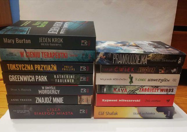 Książki na wymianę: tematyka kryminalna, różne powieści, nowości, inne