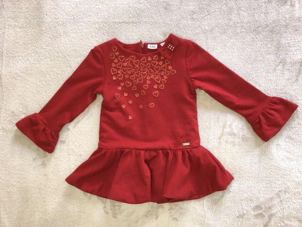 платье нарядное  86р (18-24)м zara hm mango