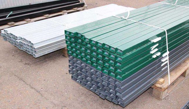 Słupek panela ogrodzeniowego grafit 60/40 mm 2,4m Słupek ocynk 2,2m