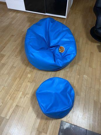 Pufa fotel i podnóżek styropianowy