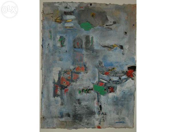 Quadro Ribeira do Porto quadro original abstracto do pintor Malheiro