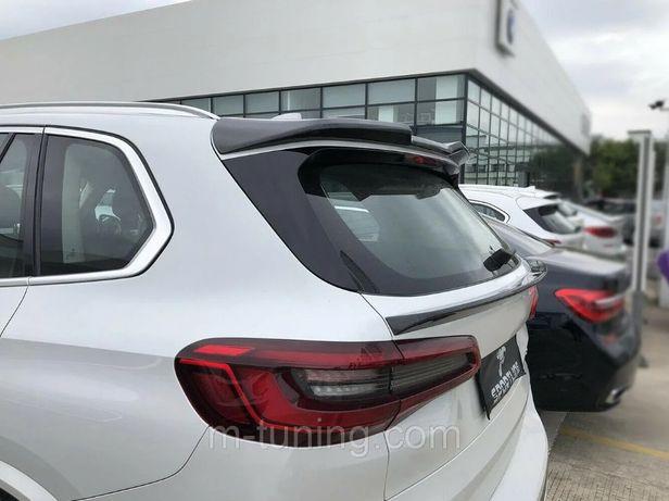 Спойлер BMW X5 G05 карбон верхний / нижний БМВ Х5 сабля