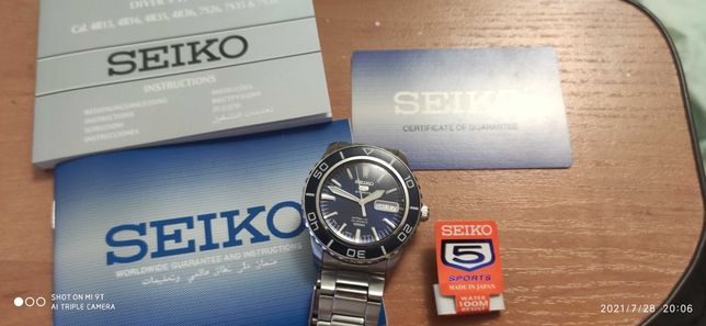Мужские часы Seiko 5 Automatic Blue Dial-SNZH53J1 JAPAN
