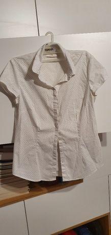 Biała Bluzka koszulowa Reserved, r.38