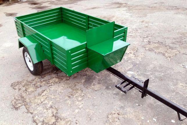 Прицеп причеп для мінітрактора мотоблока трактора тракторний САМОСВАЛ