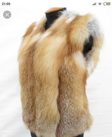 Меховая жилетка лиса