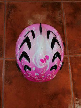 Kask rowerowy dziewczecy różowy regulowany