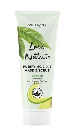 Oczyszczająca maseczka i scrub 2 w 1 Love Nature Oriflame.