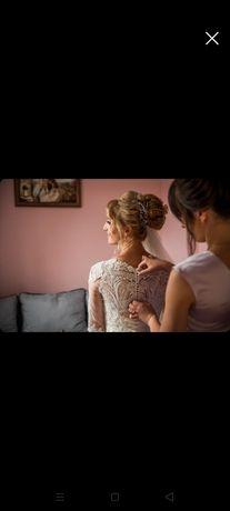 Весільне плаття кольору Шампано
