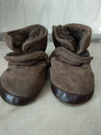 Ботинки на овчине 12 см
