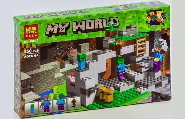 """Конструктор Bela Minecraft 10810 """"Пещера зомби"""", 250 элементов, лего"""