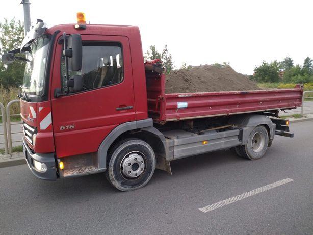 Beton suchy- transport wywrotką małą i dużą
