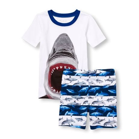 Комплект футболка и шорты Childrens place с акулой на 12-14 лет. Новый