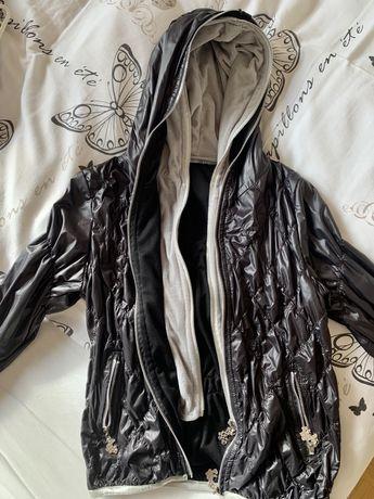 Krótka kurtka, casual, czarna, sportowa