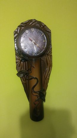 Zegar skórzany