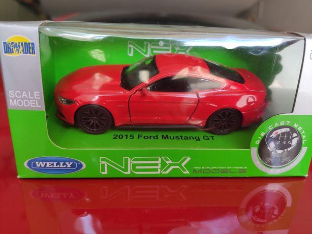 Nowy Ford Mustang GT, model metalowy w skali 1:34